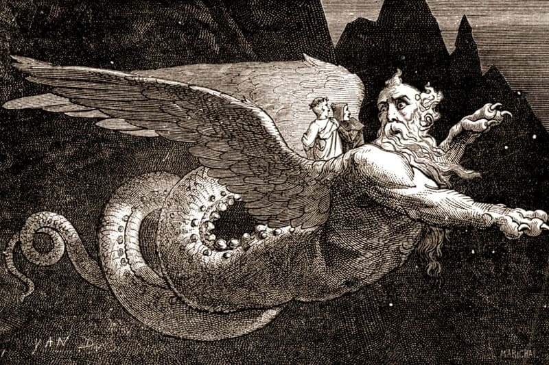 Данте и страж Герион